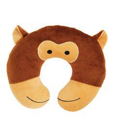 Loving this Peek-a-Zoo Brown Money Travel Neck Pillow on #zulily! #zulilyfinds