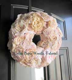 Coffee Filters: DIY Coffee Filter Wreath Tutorial from Haleighanna's Hands