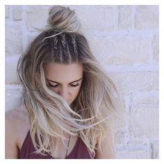 15 Peinados de chica TUMBLR con los que necesitas una selfie ❤ liked on Polyvore featuring hair