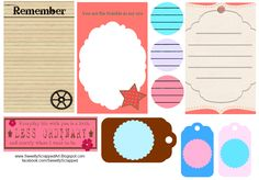 Sweetly Scrapped: Free Printable Journaling Spots and Tags