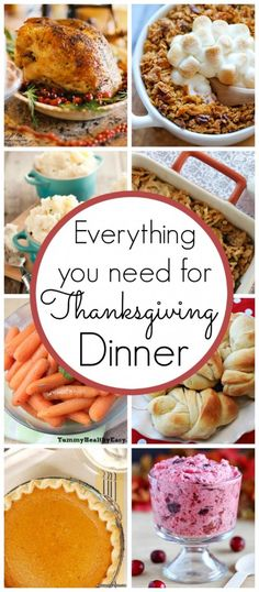 Everything you need for Thanksgiving Dinner. Hosting your first ever Thanksgiving meal? Check out these tips for the best ever holiday meal! (Best Ever Thanksgiving) Thanksgiving Dinner Recipes, Holiday Dinner, Thanksgiving Sides, Recipes Dinner, First Thanksgiving Meal, Thanksgiving Holiday, Fall Recipes, Holiday Recipes, Holiday Foods