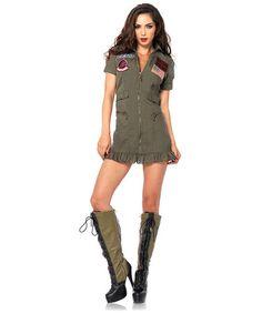 Top Gun Flight Dress Dress-Up Set - Women #zulily #zulilyfinds