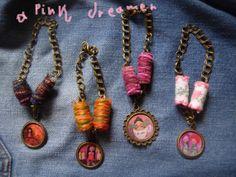 Items similar to New Winter Collection of hippie/boho art illustrated adjustable Bracelets with fiber/crochet/yarn beads on Etsy Arrow Necklace, Pendant Necklace, Jewelry Illustration, Fine Jewelry, Unique Jewelry, Winter Collection, Art School, Mixed Media Art, Hippie Boho