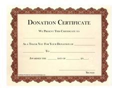 10 donation certificate templates free printable word pdf award certificates certificate templates