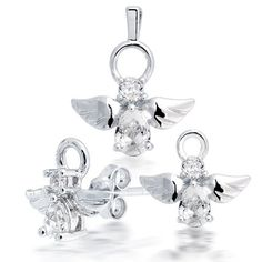 Valentines Day Gifts Bling Jewelry .925 Silver Guardian Angel Jewelry Set Earrings Pendant Bling Jewelry. Save 52 Off!. $29.99. Pendant Measures: .87 Inches in Length x .75 Inches in Width. Pendant: 1.7 Grams total weight, Earrings: 1.3 grams total weight (.7 earch ear). Largest Pendant CZ measures 7 mm in Length x 5 mm in width. Earrings Measure .38 Inches in Length x .43 Inches in Width. 925 Sterling Silver, Cubic Zirconia Bling Jewelry, Jewelry Sets, 925 Silver, Sterling Silver, Valentine Day Gifts, Pendant, Farm Cake, Ear Earrings, Angel