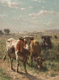 1stdibs | Cows in the Pasture
