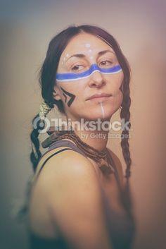 Stock Photo : Native American Woman