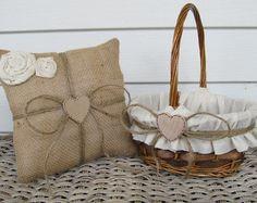 diy rustic flower girl basket - Google Search