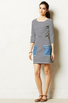 Don't know where I saw this but I love the whole look - yes, sucker for stripes & always flat shoes. Does that make me a granny? I would wear it with a few black & white bracelets from my shop/site www.tanyalochridge.com.