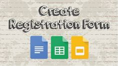 How to create a registration form with Google Docs