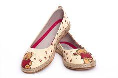 Goby Women's Shoes Teddy Bear Ballerina Espadrille Textile FBR1209 Color Splash, Ballet Flats, Ballerina, Memory Foam, Espadrilles, Teddy Bear, Textiles, Chic, Women's Shoes