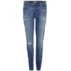 True Religion Halle Mid Rise Super Skinny Jeans (£100) ❤ liked on Polyvore
