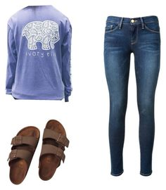 """Going somewhere that casual wear this."" by zalloum-noor on Polyvore featuring Birkenstock and Frame Denim"