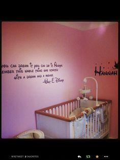 Baby a Girls bedroom by www.wallchimp.co.uk