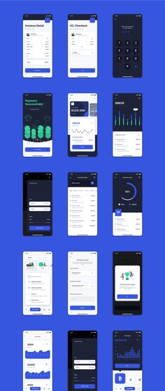 Grace - Banking App UI Kit Banking, Finance and Crypto Wallet App UI Kit #Paid, #Banking, #AD, #Grace, #App, #Kit Budget App, Budget Planner, Mobile Wallet App, Black And White Aesthetic, Mobile App Design, Ui Kit, App Ui, Interface Design, Saving Money