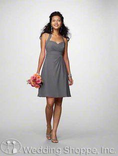 chiffon bridesmaid dresses charcoal - Google Search