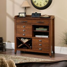 Sauder Carson Forge Sideboard, Washington Cherry Finish Sauder http://smile.amazon.com/dp/B00BPDYVCO/ref=cm_sw_r_pi_dp_7kfStb1HY978ND4Z