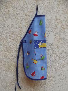Avental infantil -menino em tecido 100% <br>Alça ajustável <br>Tam. 4