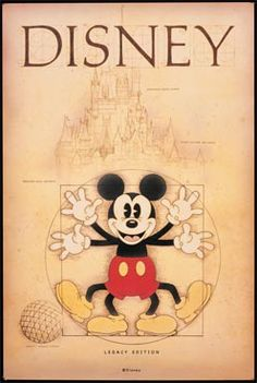 Mickey Mouse is a funny animal cartoon character and the official mascot of The Walt Disney Company. Vintage Disney Posters, Vintage Disneyland, Vintage Mickey, Jim Henson, Disney Images, Disney Pictures, Mickey Mouse And Friends, Mickey Minnie Mouse, Disney Love