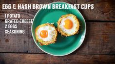 Homemade Tries: Egg & Hash Brown Breakfast Cups