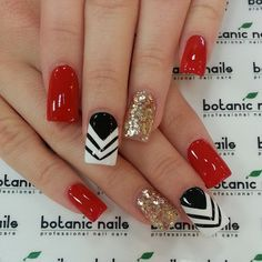 46 Best Sexy Red Nails Inspirational Design (acrylic Nails, Geometric Nails) - Page 6 of 46 - Diaror Diary Get Nails, Fancy Nails, Love Nails, Trendy Nails, Pink Nails, Maroon Nails, Chevron Nails, Style Nails, Black Nails