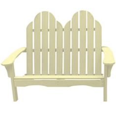 Great American Woodies Cottage Classic Adirondack Settee Color - Creamy Yellow by Great American Woodies. $482.98. Generous contoured seat and wide arms. Variety of acrylic color stain options. Comfortable loveseat design perfect for a couple. UV-resistant, water-based Cuprinol stain won't fade. Durable Southern Cypress construction. The Cottage Classic Adirondack Settee combines a loveseat design with traditional Adirondack style. Crafted of Southern Cypress, this dur...