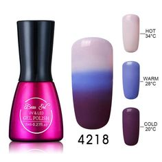 Beau Gel 7ml Gel Chameleon Temperature Color Changing Nail Polish Thermal Color Change UV Gel Lacquer