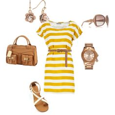 stripes, created by breena-rae on Polyvore