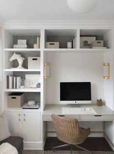 On a budget Home Office Design Ideas. Thus, the demand for home offices.Whether you are intending on including a home office or restoring an old space right into one, here are some brilliant home office design ideas to aid you get going. Office Nook, Home Office Space, Home Office Desks, Small Bedroom Office, Narrow Bedroom Ideas, Tiny Home Office, Bedroom Built Ins, Home Office Layouts, Bedroom Shelves