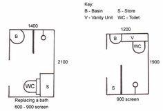 Narrow and tiny wetroom design
