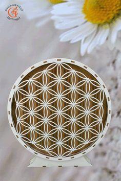 """Lebensblume Blume des Lebens aus Holz """"Symbol für die unendliche Kraft der Schöpfung""""Deko Weihnachtsgeschenk Wohnzimmer Dekoration"""
