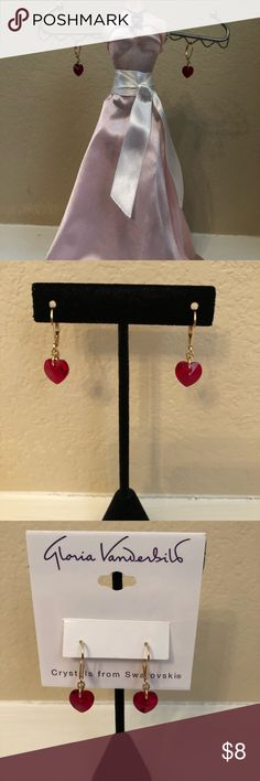 """NWT Gloria Vanderbilt Swarovski crystal hearts!♥️ NWT Adorable heart earrings made with Swarovski crystals! There is still plenty of time to get them in time for a gift or to wear yourself on the big day! Hearts are just less than 1/2"""". Excellent deal on these sweet earrings! 🎁 Gloria Vanderbilt Jewelry Earrings"""