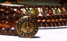 Elephant Rope Leather Wrap Bracelet by LoveNeff on Etsy, $30.00