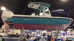 Everglades Boats at Fort Lauderdale boat show.