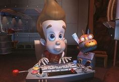 Jimmy Neutron: Boy Genius loves making new investments and helping his friends. He is also both a student/ teacher here in the school
