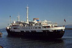 The old Queen of Hurtigruten ships, M/S Lofoten leaving Molde on it's Norwegian Classic Cruise. Photo by bestnorwegian.com