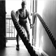 Putting in work.  Heavy Ropes.