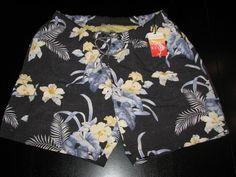 Tommy Bahama New Barefoot Black Swim Suit Trunks L Large 34-36 waist TR99188 #TommyBahama #Trunks