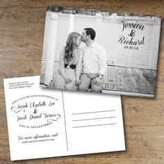 Printable Save the Date Postcard.