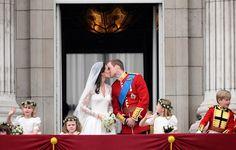 The royal couple's Buckingham Palace kiss