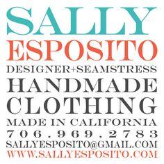 C'est Moi! Sally Esposito Business Card Design