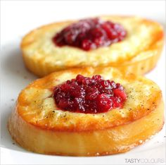 Fried oscypek (Polish mountain cheese) with lingonberry preserve ... Absolutely a favorite meal. Utterly delicious.