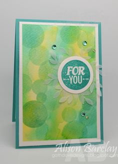 Gothdove Designs - Alison Barclay Stampin' Up! Bokeh, Hand Made Greeting Cards, Birthday Greeting Cards, Stencil Diy, Stenciling, Cool Cards, Diy Cards, Cardmaking And Papercraft, Card Sketches