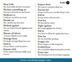Verbs & Prepositions - Likes
