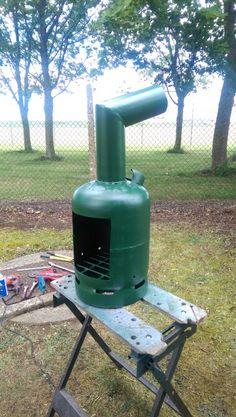 Gas cylinder log burner