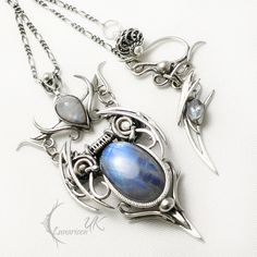 UNTHRIEEL silver , moonstone and topaz by LUNARIEEN.deviantart.com on @DeviantArt
