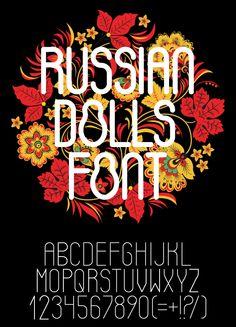 Russian Dolls Font poster