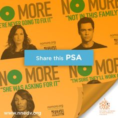 25. Celebs speak out! NO MORE is a new campaign designed to raise awareness about domestic and sexual violence, encourage conversation, and spark action! Check out this powerful #PSA -- and then share it with your friends and family to inspire others to join the movement. #31n31 #DVAM #NoMore | http://nomore.org/psas/