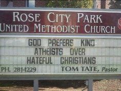 Rose City Park United Methodist Church of Portland, Oregon creates sign that's drawing more attention than usual