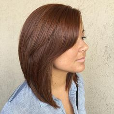 Long Layered Bob With Side Bangs--color